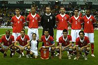 Photo: Ed Godden.<br /> Brazil v Wales. International Friendly. 05/09/2006.<br /> Team pic of Wales.