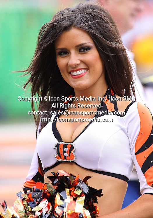 September 27 2009: Cincinnati Bengals Cheerleader during the game against the Pittsburgh Steelers at Paul Brown Stadium in Cincinnati, OH.