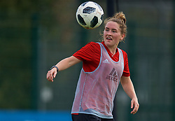 NEWPORT, WALES - Friday, October 5, 2018: Wales' Rachel Rowe during a training session at Dragon Park. (Pic by David Rawcliffe/Propaganda)