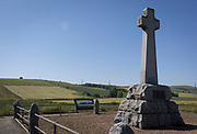 Now a peaceful and idyllic farmland landscape, also the battlefield of the Battle of Flooden, on 28th June 2019, in Branxton, Northumberland, England. The Battle of Flodden Field was undoubtedly the most famous confrontation between the English and Scots ever fought on English soil. It took place eight miles to the north west of Wooler near the village of Branxton on September 9th, 1513 in the reign of Henry VIII. Approximately 10,000 Scots and 5,000 English were slaughtered.
