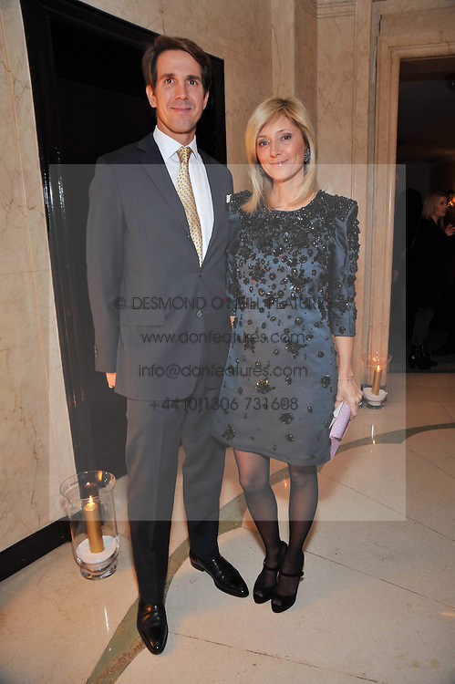 CROWN PRINCE PAVLOS and PRINCESS MARIE CHANTAL OF GREECE at a dinner in honour of Dennis Basso in celebration of his new boutique in Harrods held at Claridge's, Brook Street, London on 15th October 2009.