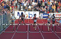 Friidrett,  Tatyana Terestchuk (172), Ionela Tirlea (171), Nezha Bioudane (170) og Deon Hemmings (168) løp 400 meter hekk i Bislett Games 1999. Foto: Digitalsport