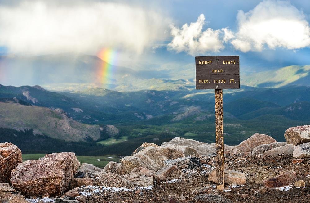 This is the summit of Mount Evans.<br /> <br /> Camera <br /> NIKON D610<br /> Lens <br /> 70.0-200.0 mm f/4.0<br /> Focal Length <br /> 70<br /> Shutter Speed <br /> 1/320<br /> Aperture <br /> 5.6<br /> ISO <br /> 200