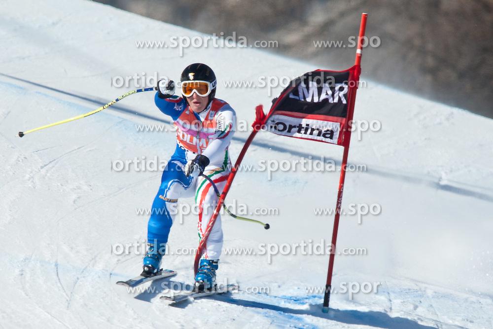 23.01.2011, Tofana, Cortina d Ampezzo, ITA, FIS World Cup Ski Alpin, Lady, Cortina, SuperG, im Bild Ausfall Elena Fanchini (ITA, #28) // Elena Fanchini (ITA) during FIS Ski Worldcup ladies SuperG at pista Tofana in Cortina d Ampezzo, Italy on 23/1/2011. EXPA Pictures © 2011, PhotoCredit: EXPA/ J. Groder