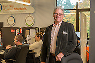 Avalara CEO and founder Scott McFarlane, with customer service reps. 206-826-4900  ....Bainbridge Island.WA.USA - U.S.A..SMB basic services.F.Keith Brofsky.UNL - Unlimited Reuse.for USA TODAY.For USA TODAY Job # 42644.{date} {time} -- Bainbridge Island, WA, U.S.A. --  For small- and mid-sized businesses looking to do more with less, having to devout precious  time and resources on basic but necessary duties and tasks can be crippling. Luckily a tier of companies has emerged specifically to eliminate such obstacles, thus freeing up SMBs to focus on going toe-to-toe against bigger competitors. Three such examples are based in Seattle: Speakeasy,  which supplies SMBs with advanced VoIP phone systems;  Concur Breeze, which manages employee expense reports as a hosted online service; and Avalara, which tracks and manages varying sales-tax payments due in multiple jurisdictions. Here's a look at how each is helping SMBs operate leaner and meaner.. .  -- ...Photo by Keith Brofsky, Freelance....EXIF {ownr} {ID}, {modl} #{snum}; {date} @{time}; {lens}mm, {shut}@f{f}; {iso}asa; {prgm};{baln} .KB 42644 SMB basic servic 10/30/2012 .Keith Brofsky...............Money.....