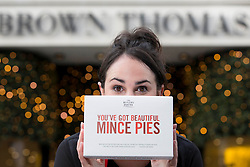 ***Repro Free*** 'Eyes on the pies'<br /> The Butler's Pantry will be at your service in Brown Thomas Dublin Limerick and Cork with it&rsquo;s Christmas range. Pictured at the announcement is Aoife Connolly from Sandyford. www.thebutlerspantry.ie . Picture Andres Poveda Photography