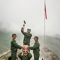 A show of force at a festival in Yushu, Qinghai Province, China.