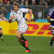 Jean De Villiers, South Africa, in action during the South Africa V Samoa, Pool D match during the IRB Rugby World Cup tournament. North Harbour Stadium, Auckland, New Zealand, 30th September 2011. Photo Tim Clayton...