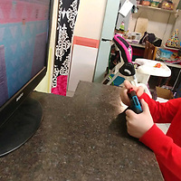 """Nettleton kindergartner Atticus Payne plays """"Super Mario Odyssey,"""" one of the video games that has helped motivate him to strive for perfection at school."""