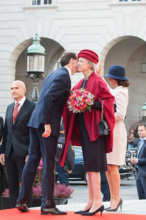 03.10.2017. Copenhagen, Denmark. <br /> Princess Marie, Prince Joachim, Princess Benedikte attended the opening session of the Danish Parliament (Folketinget) at Christiansborg Palace in Copenhagen, Denmark.<br /> Photo: © Ricardo Ramirez