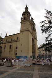 Logron?o (Spain) 21/09/2007 - 51° Fiesta de la Vendimia Riojana 2007 - Iglesia Chatedral de La Rdonda