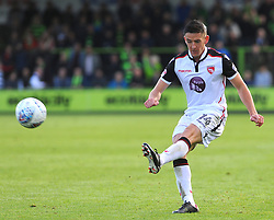 Luke Conlan of Morecambe in action - Mandatory by-line: Nizaam Jones/JMP - 28/10/2017 - FOOTBALL - New Lawn Stadium - Nailsworth, England - Forest Green Rovers v Morecambe - Sky Bet League Two