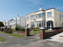1930's semi-detached houses in Blackpool.