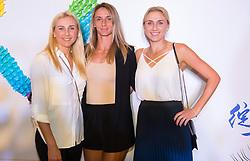 September 22, 2018 - Lyudmyla Kichenok, Nadiya Kichenok & Lesia Tsurenko of the Ukraine on the red carpet at the 2018 Dongfeng Motor Wuhan Open WTA Premier 5 tennis tournament players party (Credit Image: © AFP7 via ZUMA Wire)