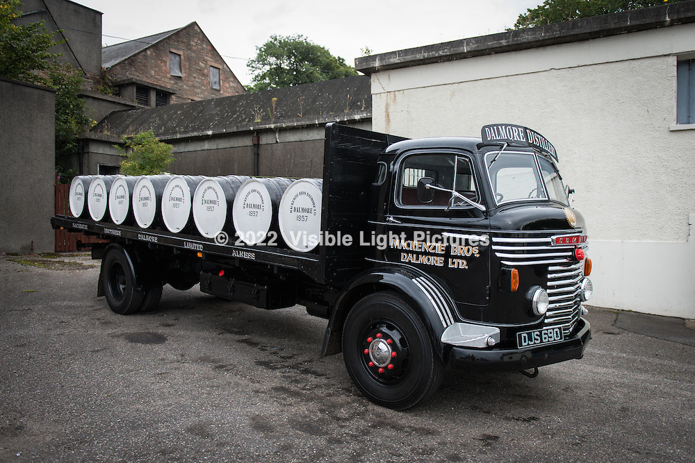 One of the distillery owners refurbished this old delivery truck, on the distillery property.