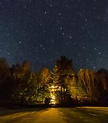 Starry winter skies in Haliburton, Ontario.