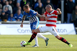 Lewis Alessandra of Hartlepool United takes on Luke McCullough of Doncaster Rovers - Mandatory by-line: Robbie Stephenson/JMP - 06/05/2017 - FOOTBALL - The Northern Gas and Power Stadium (Victoria Park) - Hartlepool, England - Hartlepool United v Doncaster Rovers - Sky Bet League Two
