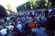 Large crowd sitting down, Quart festival, Kristiansands Norway 2000