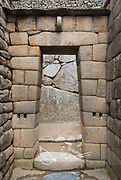 Doorway at the ancient Inca site of Machu Picchu.