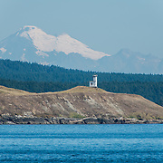 Cattle Point Lighthouse on San Juan Island, Washington. Photo by William Drumm, 2013.