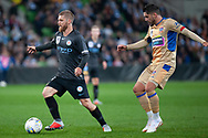 Melbourne City midfielder Luke Brattan (26) controls the ball at the FFA Cup Round 16 soccer match between Melbourne City FC v Newcastle Jets at AAMI Park in Melbourne.