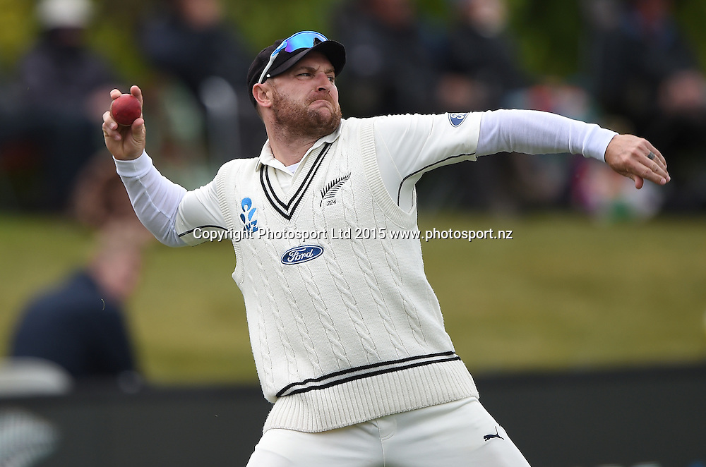 Brendon McCullum during play on day 5 of the 1st cricket test match between New Zealand Black Caps and Sri Lanka at University Oval, Dunedin, New Zealand. Monday 14 December 2015. Copyright photo: Andrew Cornaga / www.photosport.nz