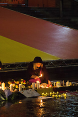 2016-03-24 Brussels terror victims remembered in Trafalgar Square
