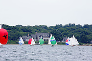 _V0A8082. ©2014 Chip Riegel / www.chipriegel.com. The 2014 Bullseye Class National Regatta, Fishers Island, NY, USA, 07/19/2014. The Bullseye is a Nathaniel Herreshoff designed 15' Marconi rig sailing boat.