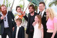 Lisa Loven Kongsli, Clara Wettergren, Ruben Ostlund, Vincent Wettergren, Johannes Bah Kuhnke and Kristofer Hivju at the photo call for the film Turist at the 67th Cannes Film Festival, Monday 19th May 2014, Cannes, France.