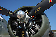 One of the four Wright 1000hp radial engines on the Boeing B-17 bomber Texas Raiders.