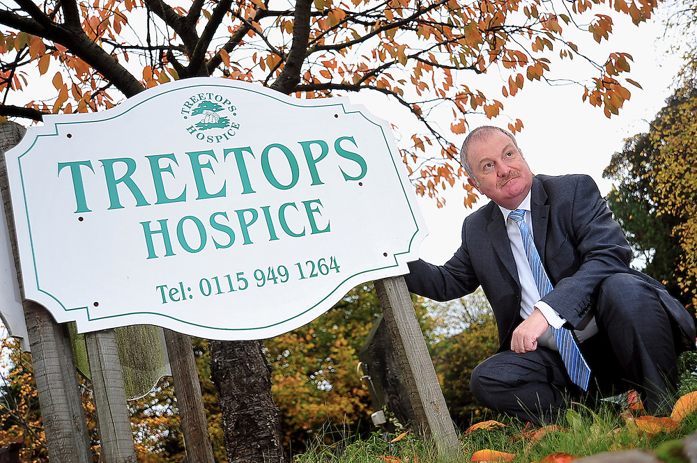 New Treetops Hospice chief executive George Cameron stands proudly outside the hospice as he settles into his new position.