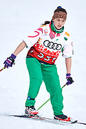 Schladming, Austria - 2017 March 20: Malika Kurbonboeva from SO Tajikistan competes in Cross Country Race while Special Olympics World Winter Games Austria 2017 in Ramsau am Dachstein on March 20, 2017 in Schladming, Austria.<br /> <br /> Mandatory credit:<br /> Photo by © Adam Nurkiewicz / Mediasport<br /> <br /> Adam Nurkiewicz declares that he has no rights to the image of people at the photographs of his authorship.<br /> <br /> Picture also available in RAW (NEF) or TIFF format on special request.<br /> <br /> Any editorial, commercial or promotional use requires written permission from the author of image.<br /> <br /> Image can be used in the press when the method of use and the signature does not hurt people on the picture.