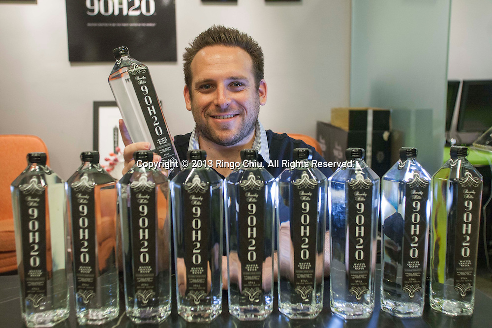 Jon Gluck, founder of premium water Beverly Hills 90H20.