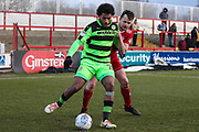 Forest Green Rovers Reuben Reid(26) during the EFL Sky Bet League 2 match between Accrington Stanley and Forest Green Rovers at the Wham Stadium, Accrington, England on 17 March 2018. Picture by Shane Healey.