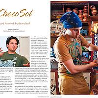 ChocoSol article in Edible Toronto Winter 2011/2012