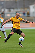 Newport  David Pipe (2) on the ball during the EFL Sky Bet League 2 match between Newport County and Yeovil Town at Rodney Parade, Newport, Wales on 7 October 2017. Photo by Gary Learmonth.