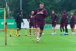 25.07.2017, Trainingsplatz TuS Bothel, Bothel, GER, Trainingslager, West Ham United, im Bild Marco Arnautovic beim Warmmachen // during a trainingsession at the trainingscamp of the English Premier League Football Club West Ham United at the Trainingsplatz TuS Bothel in Bothel, Germany on 2017/07/25. EXPA Pictures &copy; 2017, PhotoCredit: EXPA/ Andreas Gumz<br /> <br /> *****ATTENTION - OUT of GER*****