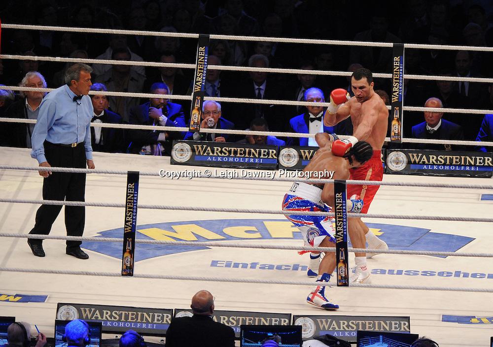 Wladimir Klitschko defeats David Haye for the WBO, WBA & IBF Heavyweight Title at Imtech Arena, Hamburg, Germany, 2nd July 2011. Photo credit: Leigh Dawney 2011
