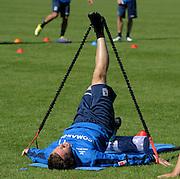 01.08.2010, TSV 1860 München im Trainingslager in Wörgl, Österreich. Benny Lauth (1860) stretches in training