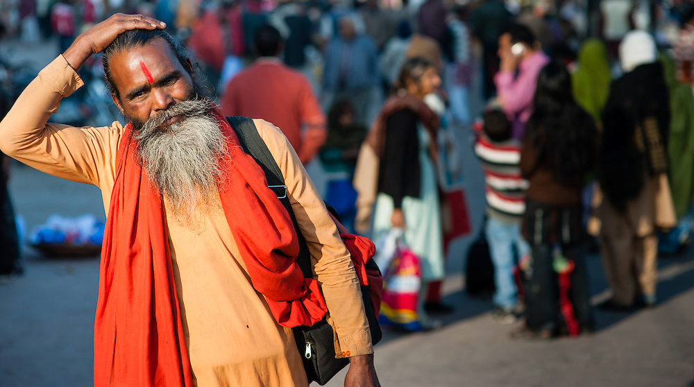 Sadhu with long beard (India)