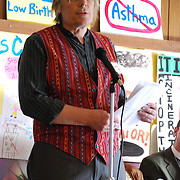 Reverend Drew Johnston speaks at a Detroit Incinerator rally held at the First Unitarian Church of Detroit on May 13, 2008.