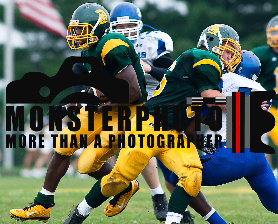 St. Mark's Running back Jabre Lolley #21 (left) breaking to the outside during a Week 3 high school football game in the second quarter Saturday afternoon Sept. 24, 2011 in Wilmington DE. ..The News Journal/Saquan Stimpson