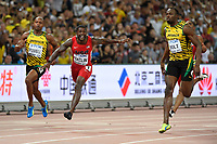 Usain Bolt (JAM) wins the Gold Medal and Justin Gatlin (USA) in 100 Metres Men Final during the IAAF World Championships, Beijing 2015, at the National Stadium, in Beijing, China, Day 2, on August 23, 2015 - Photo Julien Crosnier / KMSP / DPPI