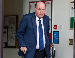 XXX leaves Willesden Magistrates Court in London where he was appearing on a charge of speeding. London, February 19 2019.