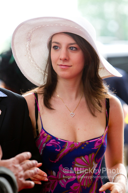 Sarah Hughes attends the Kentucky Derby in Louisville, Ky on May 7, 2011..