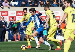February 3, 2019 - Vila-Real, Castellon, Spain - Vicente Iborra of Villarreal and Esteban Granero of RCD Espanyol during the La Liga match between Villarreal and Espanyol at Estadio de la Ceramica on February 3, 2019 in Vila-real, Spain. (Credit Image: © AFP7 via ZUMA Wire)