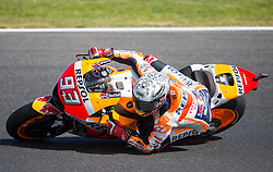 October 20, 2017 - Melbourne, Victoria, Australia - Spanish rider Marc Marquez (#93) of Repsol Honda Team in action during the second free practice session at the 2017 Australian MotoGP at Phillip Island, Australia. (Credit Image: © Theo Karanikos via ZUMA Wire)