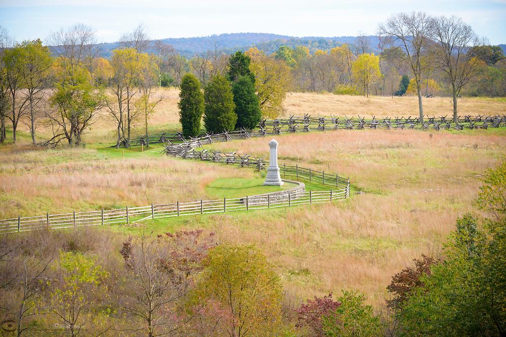 Fields of the day's final attack, Antietam National Battlefield, Sharpsburg, Maryland, USA.