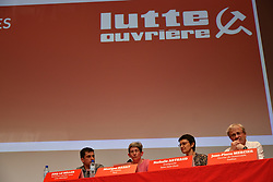 March 29, 2019 - Paris, France - French political party ''Lutte Ouvriere'' (Trotskyist Communists) holds its first meeting for european elections with its general secretary and spokesman Nathalie Arthaud in front of more than 1000 campaigners at the meeting hall ''Salle de la Mutualite'' - March 29, 2019, Paris. (Credit Image: © Daniel Pier/NurPhoto via ZUMA Press)