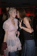 Marissa Montgomery  and Gyunel Boateng. Party hosted by Linda Evangelista and Mac Cosmetics. The Hospital. London. 18 September 2005. ONE TIME USE ONLY - DO NOT ARCHIVE © Copyright Photograph by Dafydd Jones 66 Stockwell Park Rd. London SW9 0DA Tel 020 7733 0108 www.dafjones.com